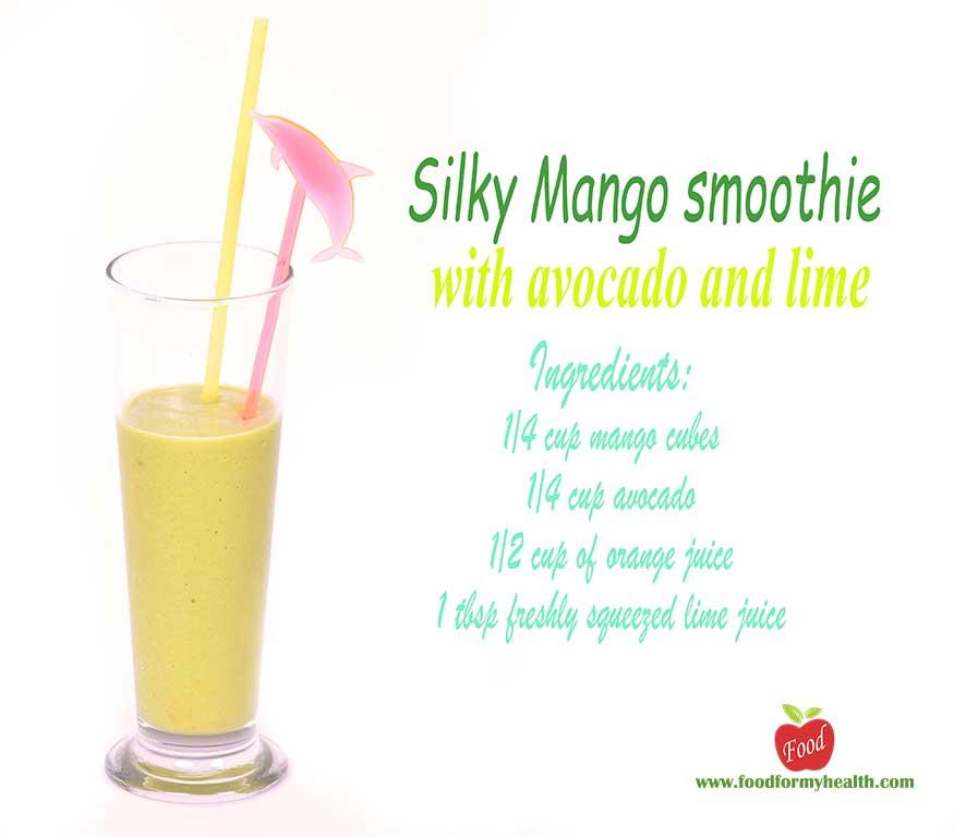 Silky Mango smoothie